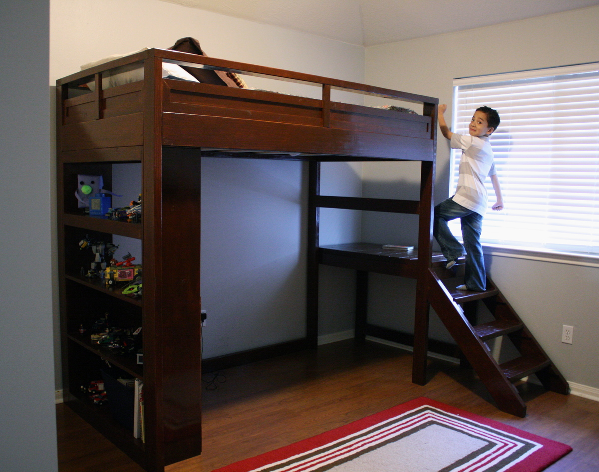 Camp Loft Bed w  Stairs. Ana White   Camp Loft Bed w  Stairs   DIY Projects