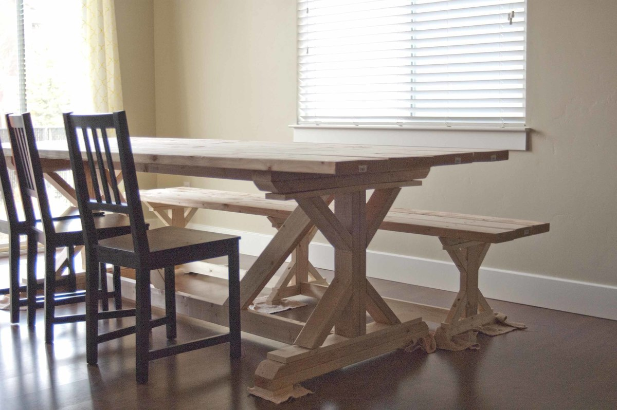 farmhouse trestle table plans Ana White | Fancy X Farmhouse Table   DIY Projects farmhouse trestle table plans