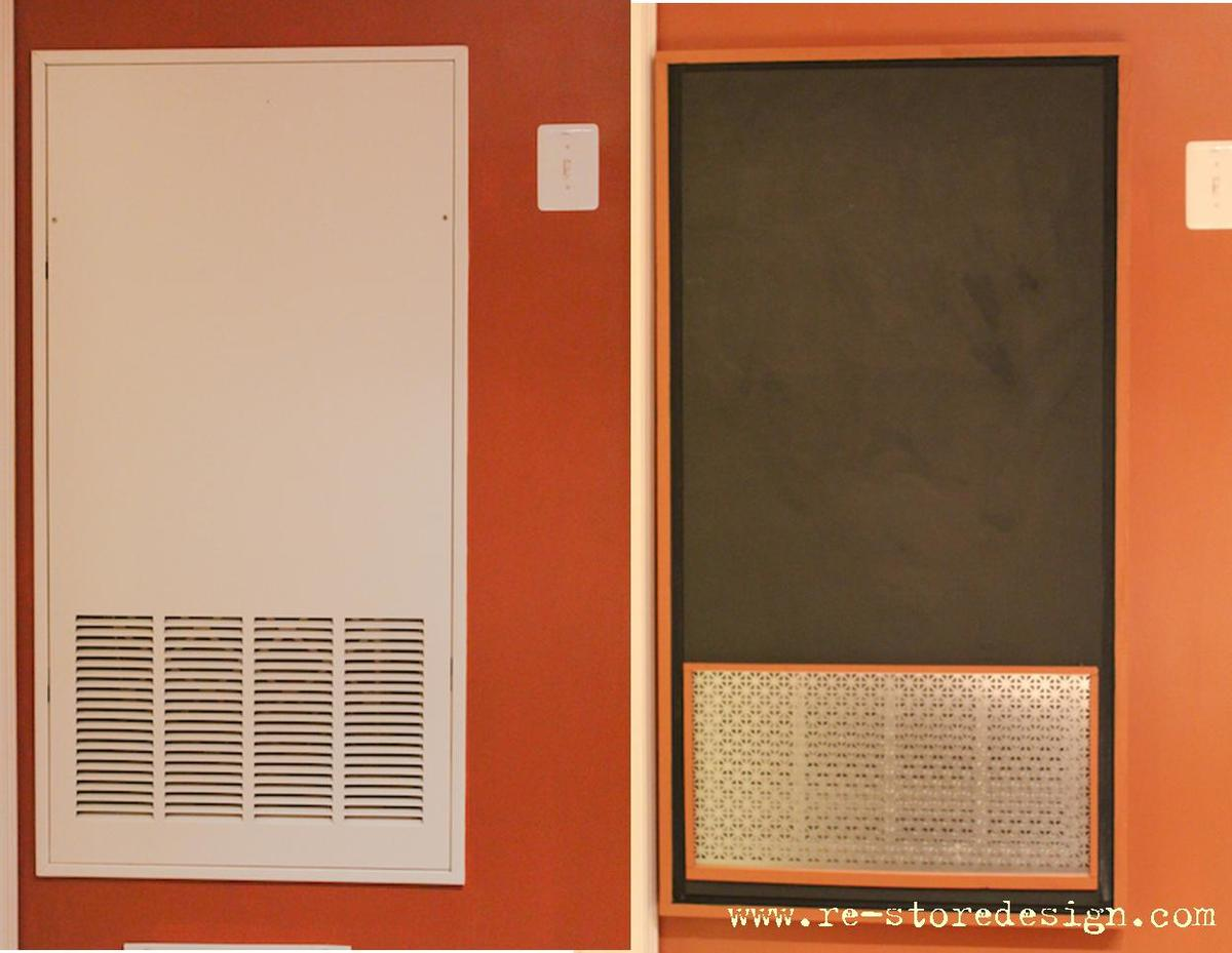 Ana White Ugly Furnace Panel Chalkboard Cover Diy