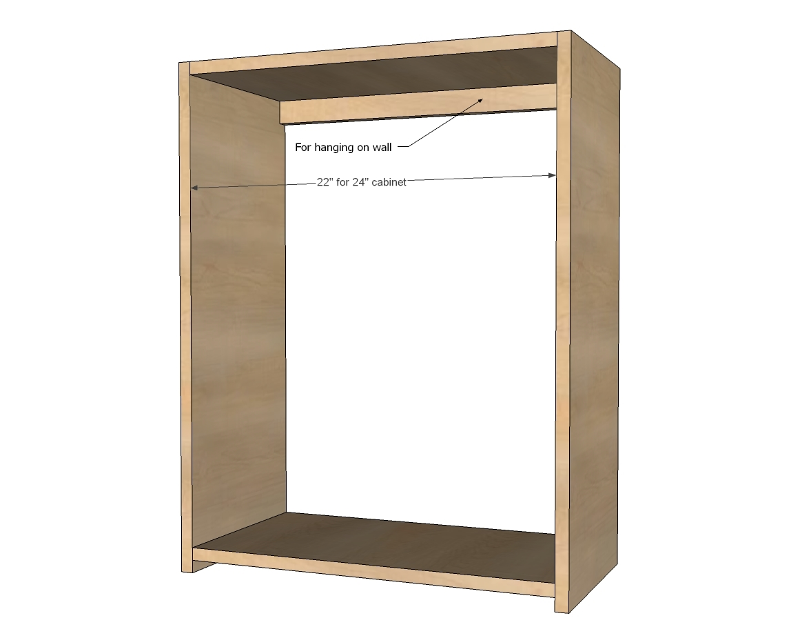 Plywood Wall Cabinet Plan Ana White Build A Wall Kitchen Cabinet