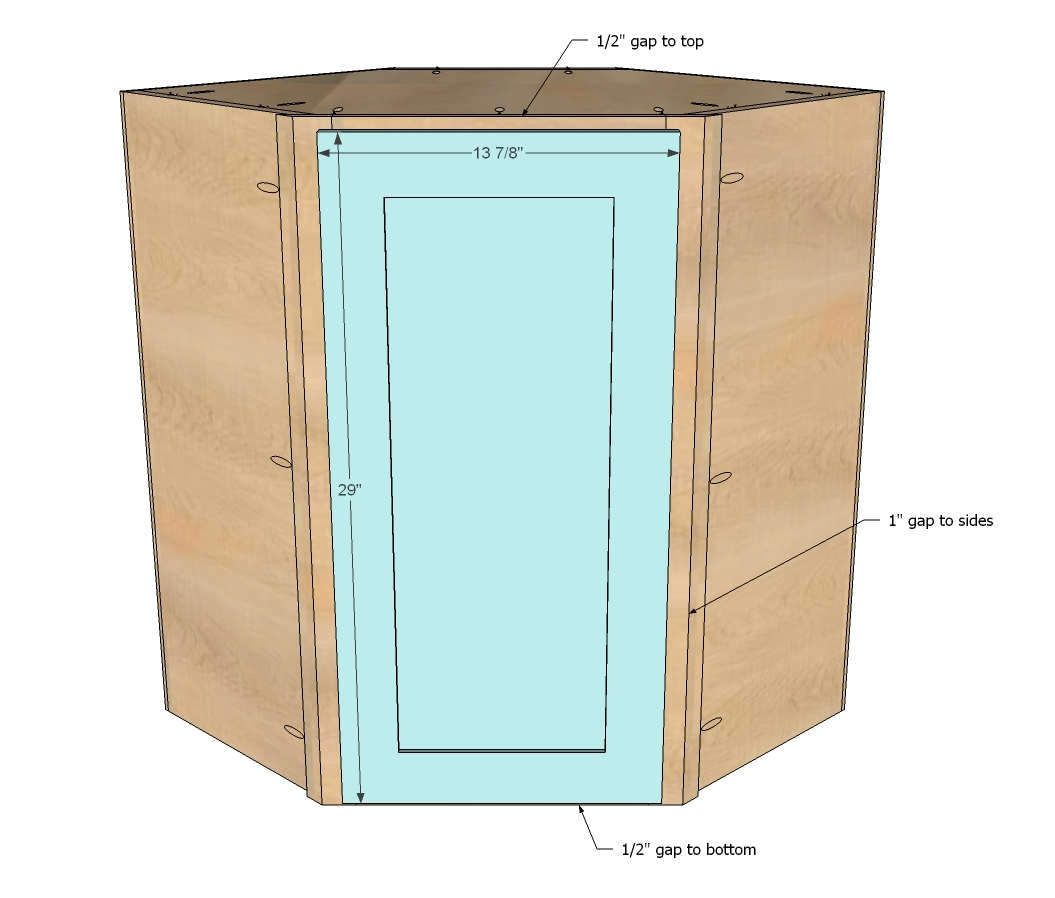 Kitchen Cabinet Drawings: Wall Kitchen Corner Cabinet - DIY Projects