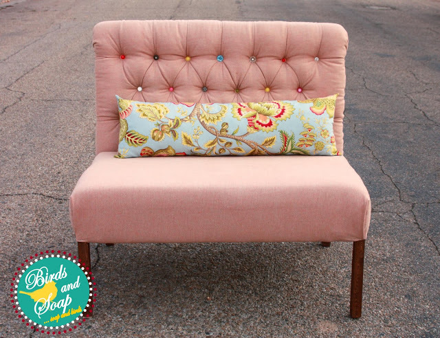 Well She S Back And Ing Us Away This Time With An Upholstered Settee