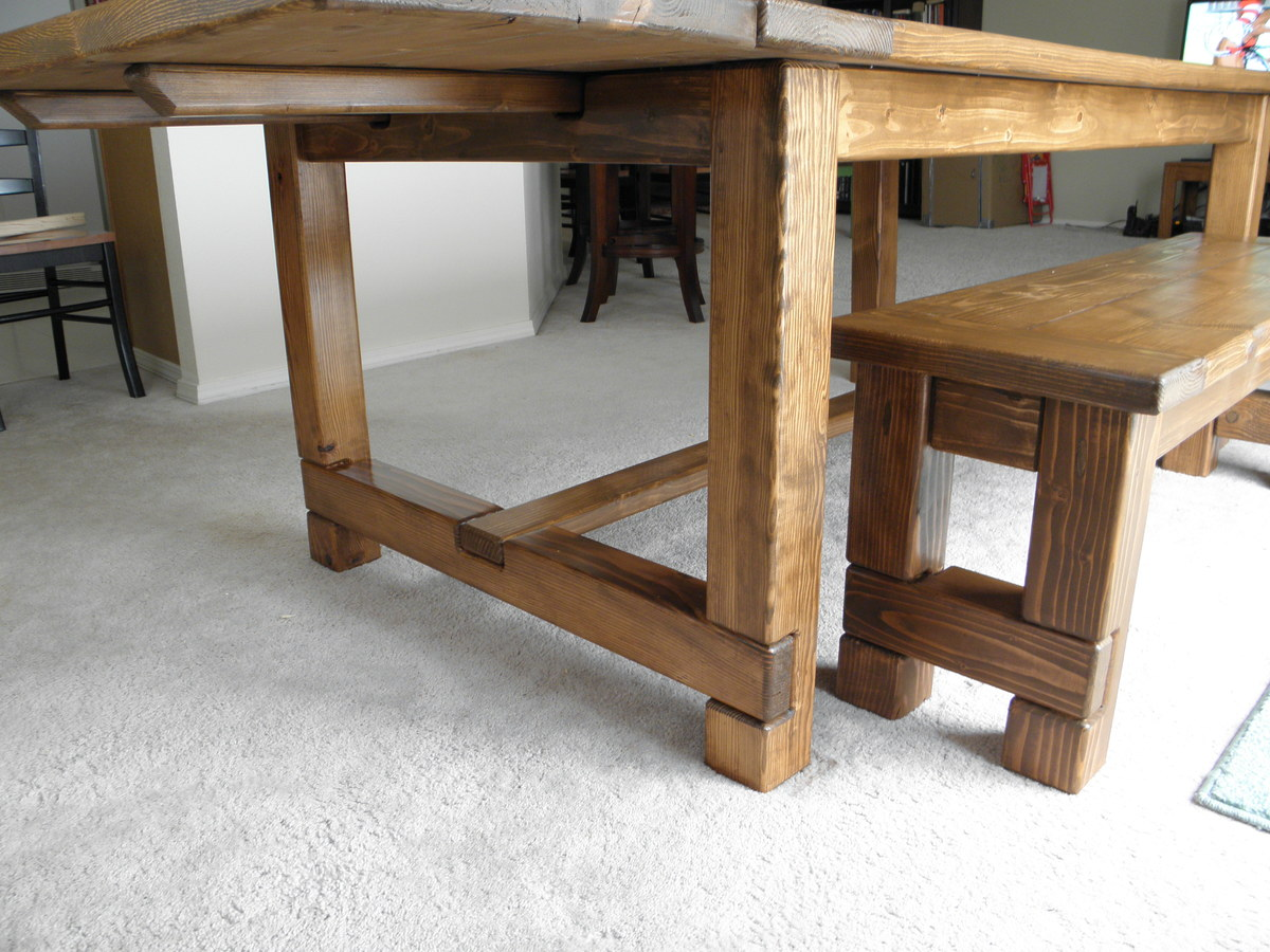 Ana White Farmhouse Table Bench And Extensions Diy Projects