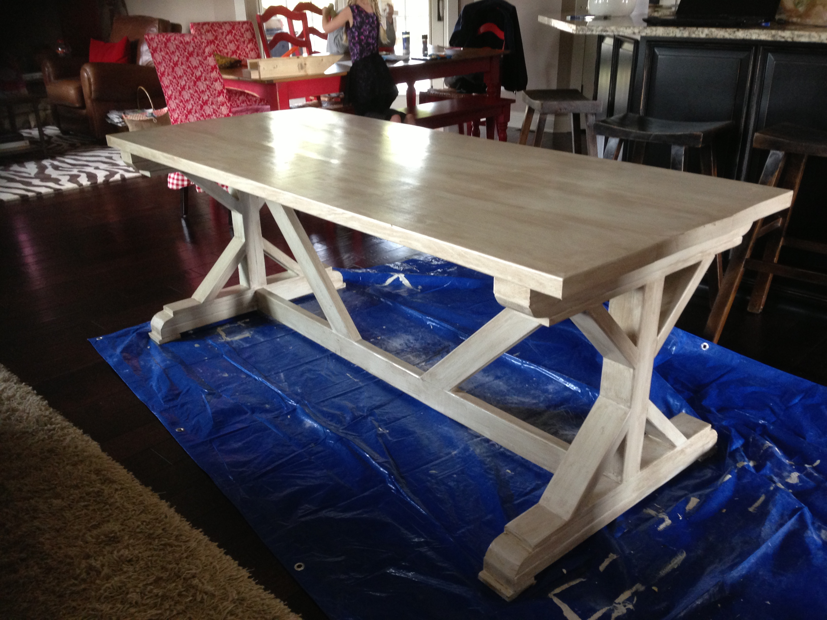 Ana white fancy x farmhouse table painted diy projects for Fancy farmhouse