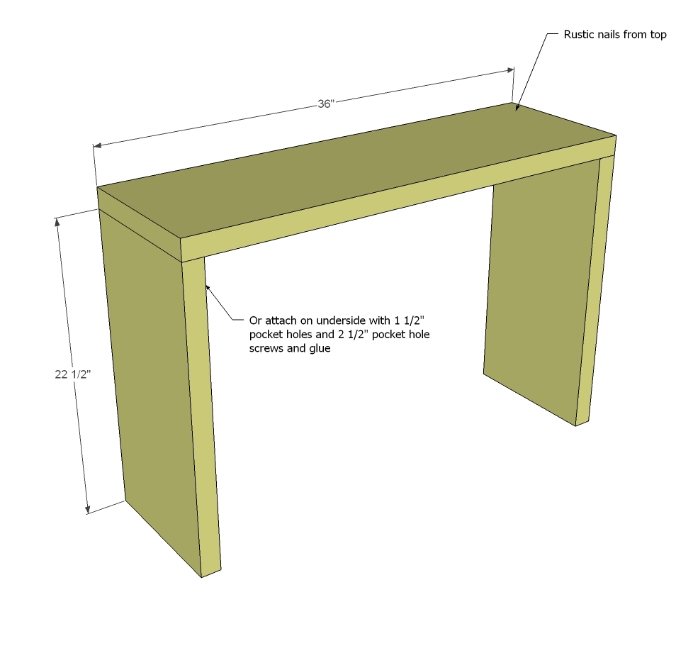 5 Board Cross Brace Console Or Side Table. How To Build ...
