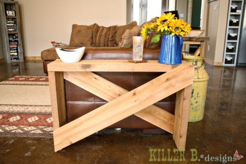 Ana White Board Cross Brace Console Or Side Table DIY Projects - How to build a side table
