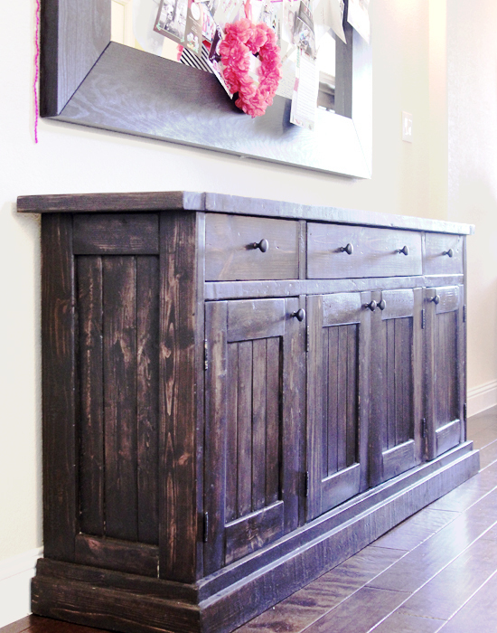 Ana white rustic sideboard buffet table diy projects What can i put on my sideboard