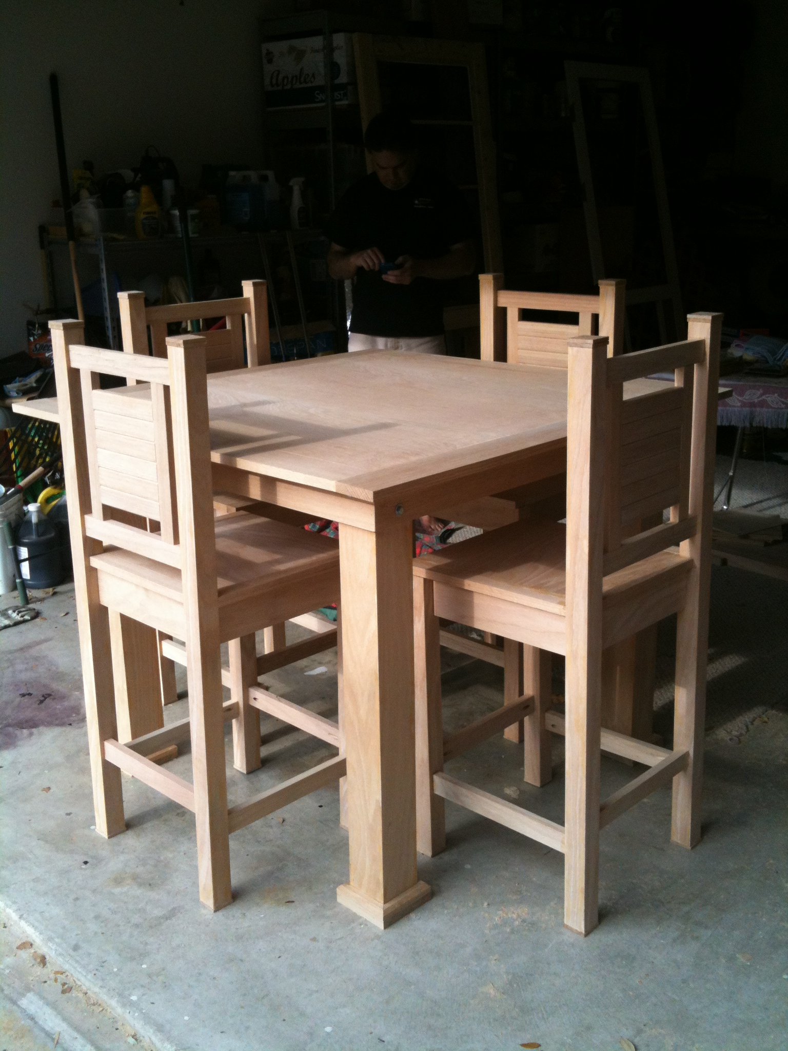 My First Dining Table And Chairs Project Ana White