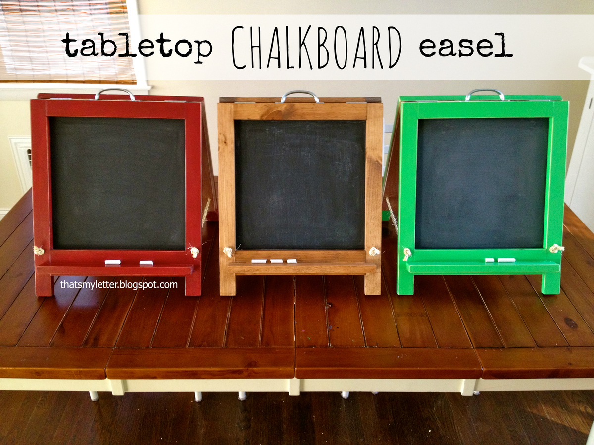 Ana White | tabletop chalkboard easel - DIY Projects