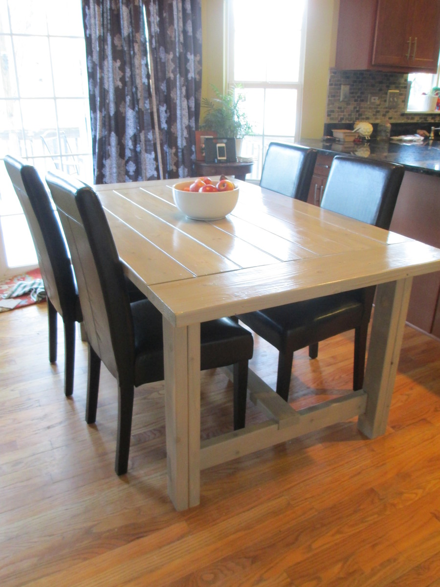 Ana White Farmhouse Dining Table DIY Projects : 31548217441360243977 from www.ana-white.com size 3456 x 4608 jpeg 2829kB