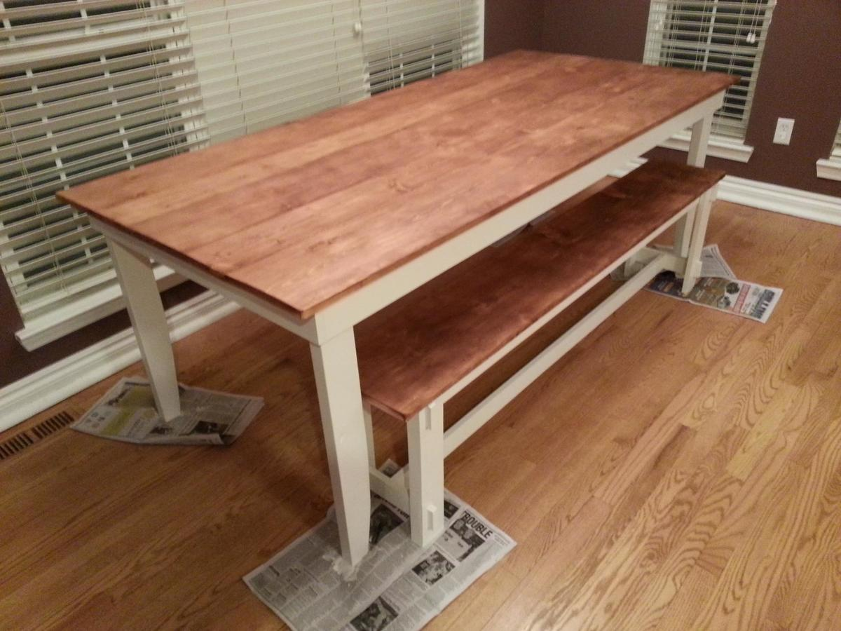 Ana White Rustic Table And Bench Diy Projects