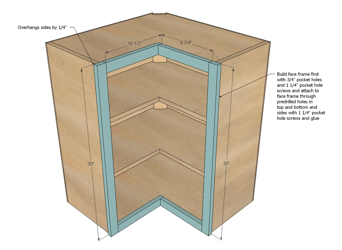 Pdf build your own kitchen pantry storage cabinet plans free for Building kitchen cabinets