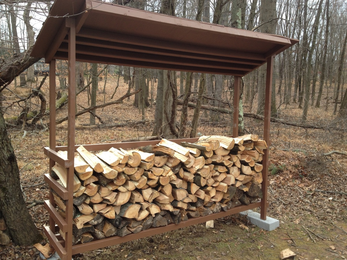 and co custom blaze greatest roof shed sheds w product racks half firewood cord