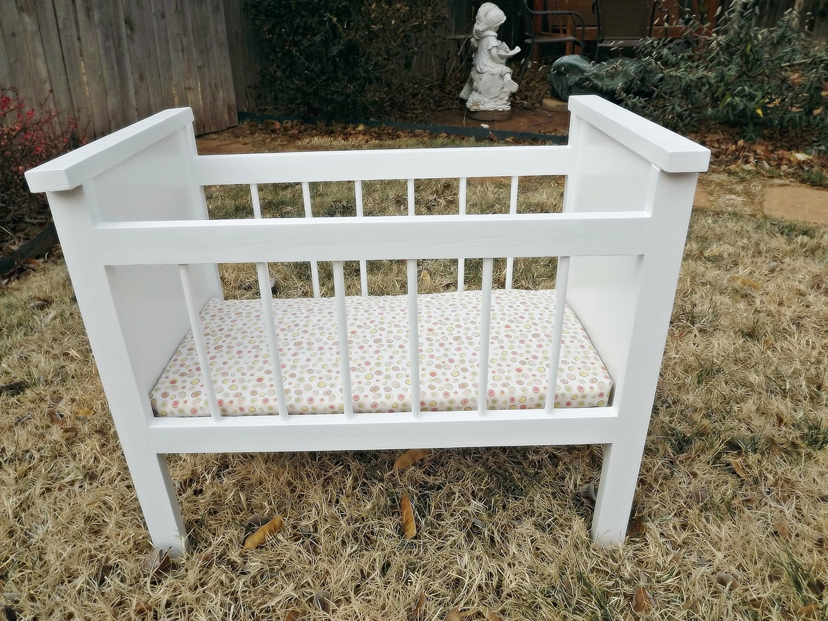 ana white fancy baby doll crib and high chair diy projects