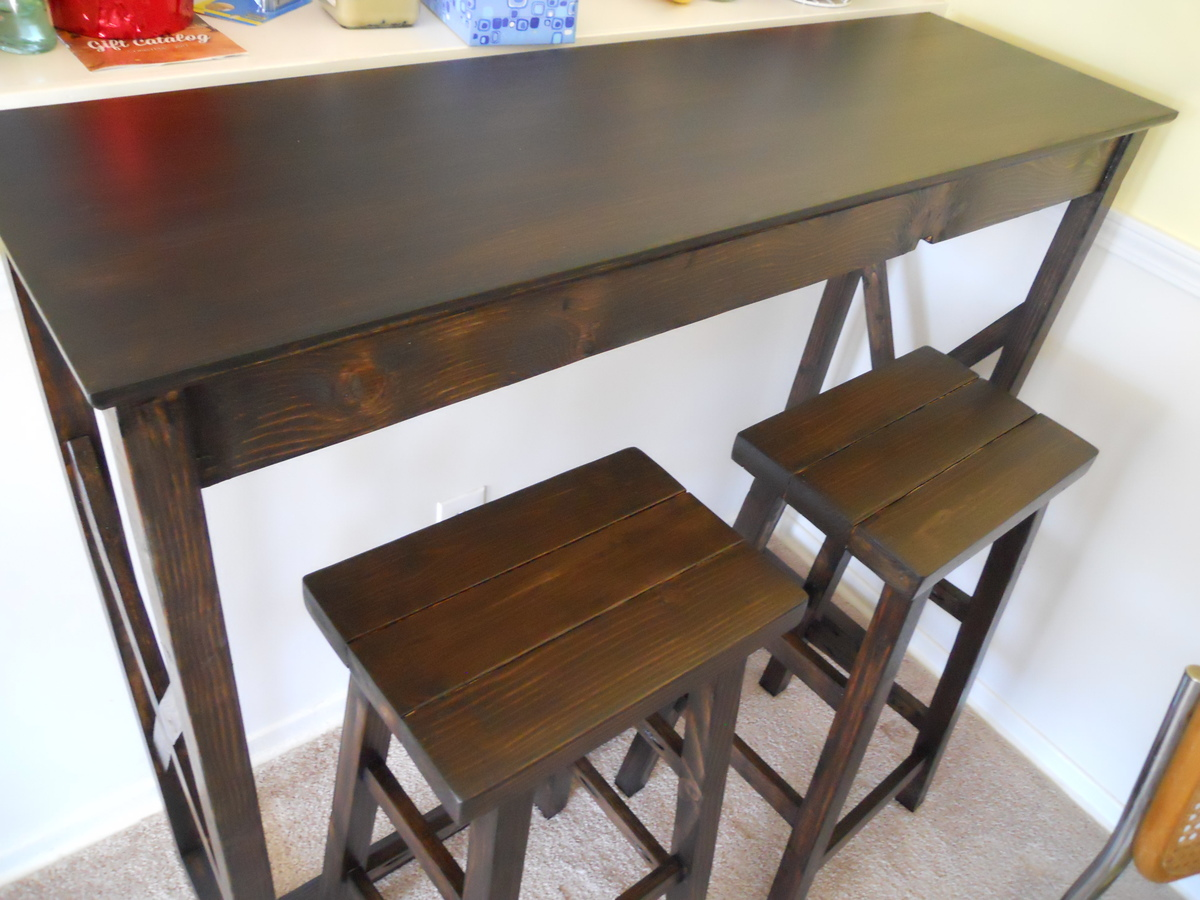 ana white  pub table and stools  diy projects - pub table and stools