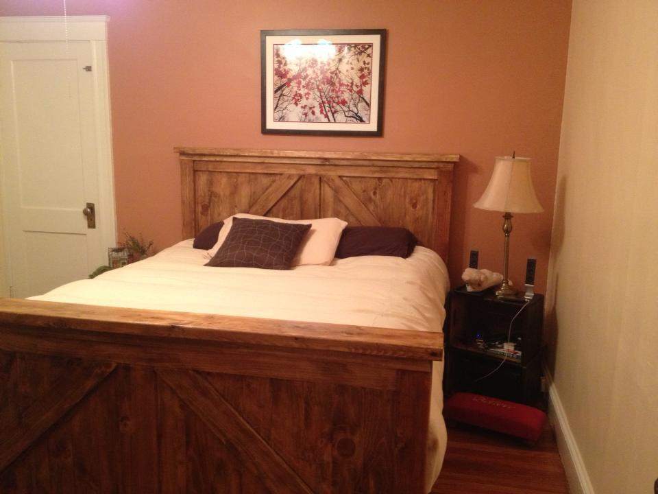 Ana White Queen Bed Frame Combo Farmhouse Brookstone