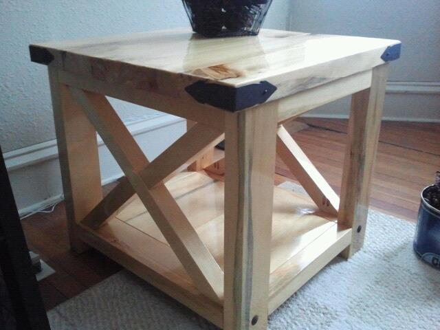 Ana White Natural Rustic X End Table Diy Projects