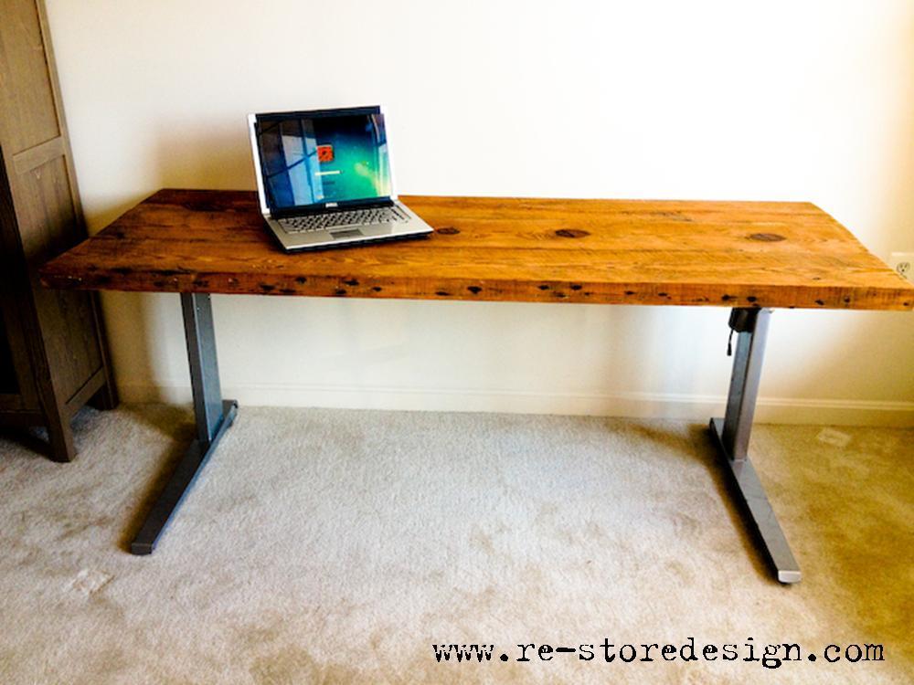 Reclaimed Wood Desk Ana White