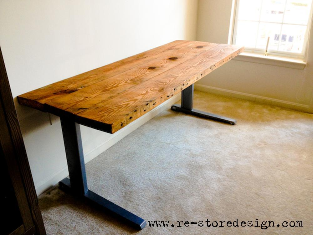 Ana White Reclaimed Wood Desk Diy Projects