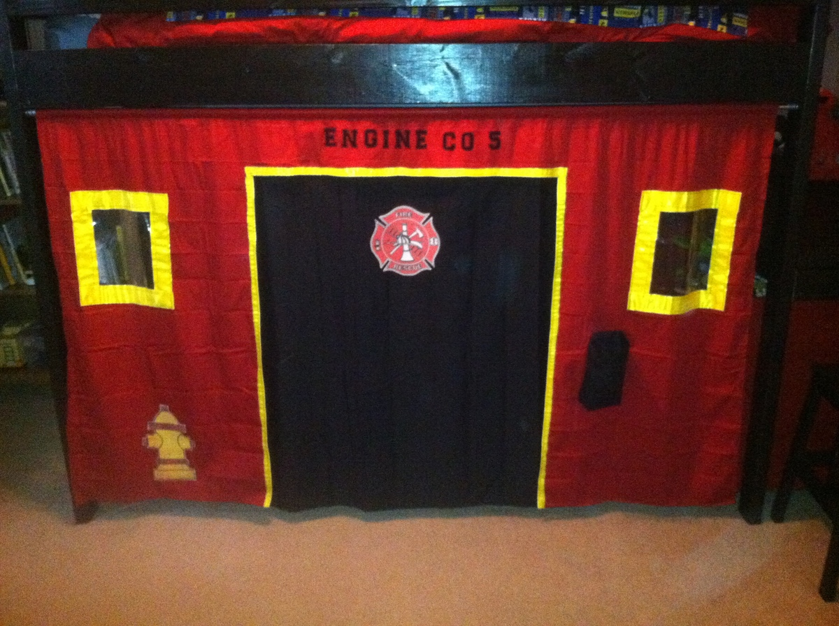 Ana White Camp Loft Bed For A Little Firefighter Diy