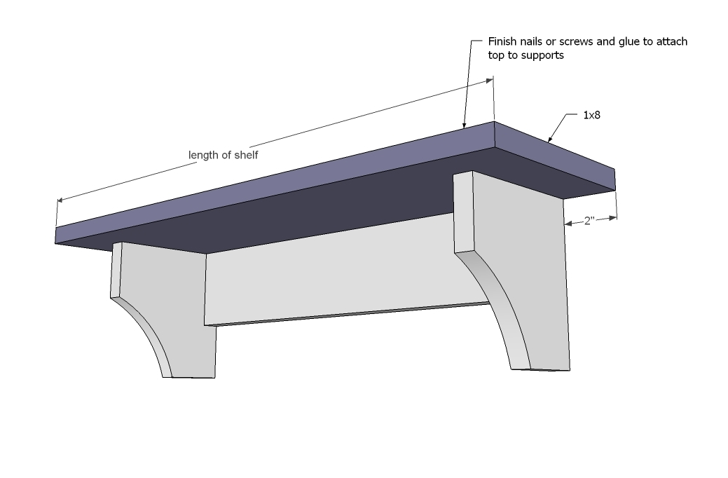 ana white | haley simple shelves - diy projects Basic Wall Shelves