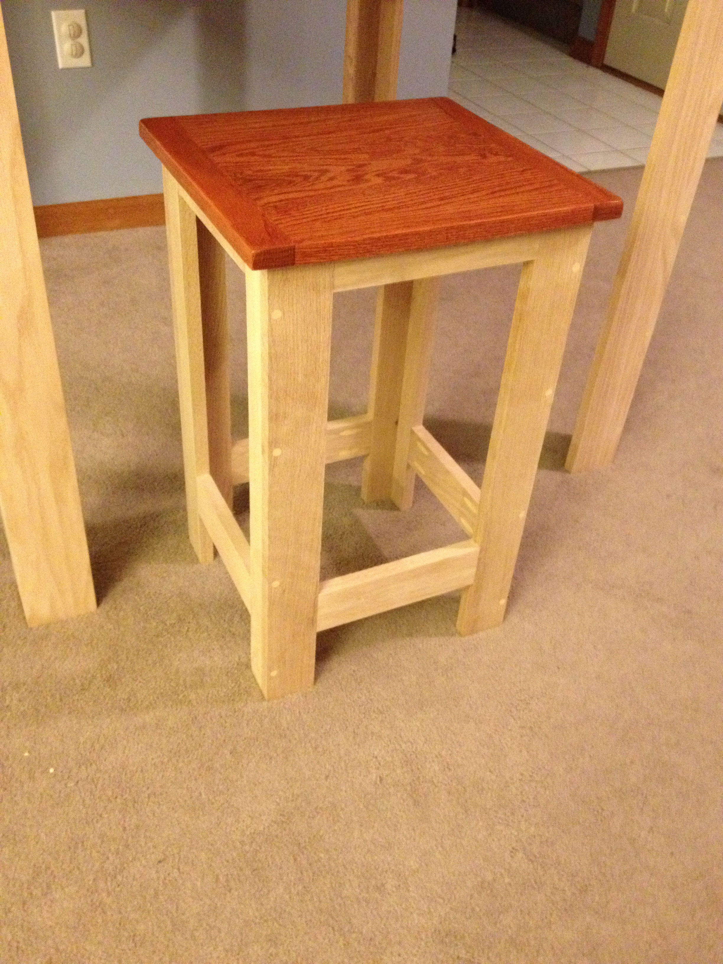 Ana white pub table stools diy projects for Table design homemade