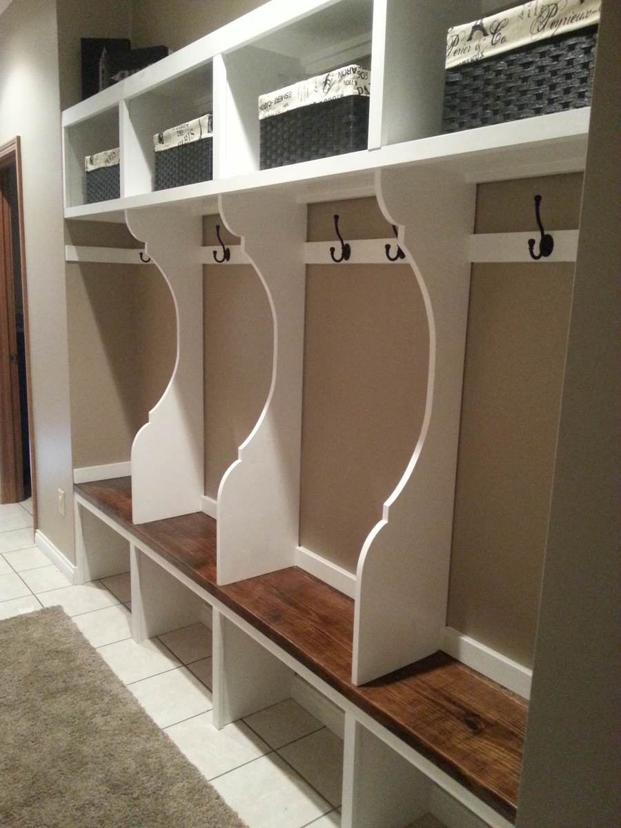 ana white mudroom locker system diy projects On mudroom locker design plans