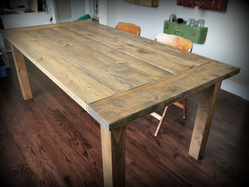 Ana white red hen home farmhouse table diy projects Diy farmhouse table