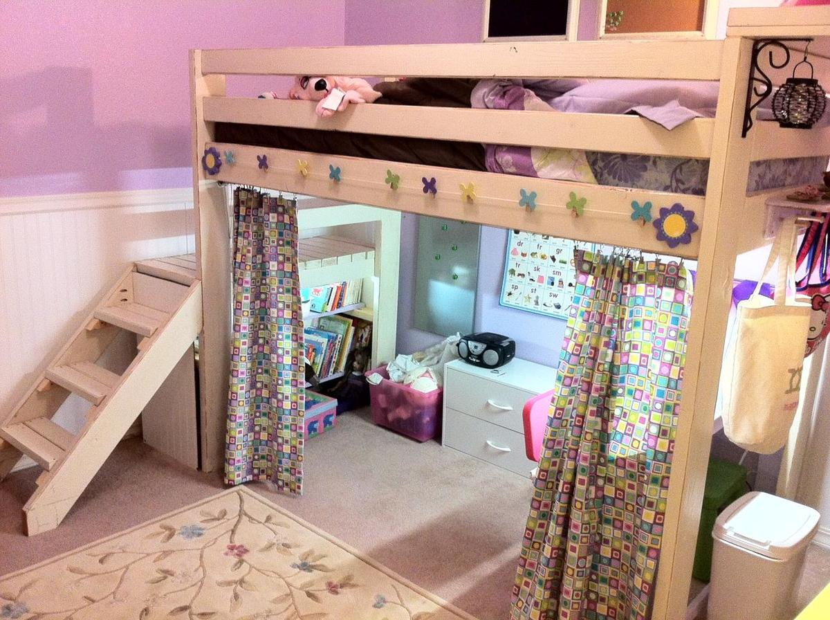 ana white art studio loft bed diy projects