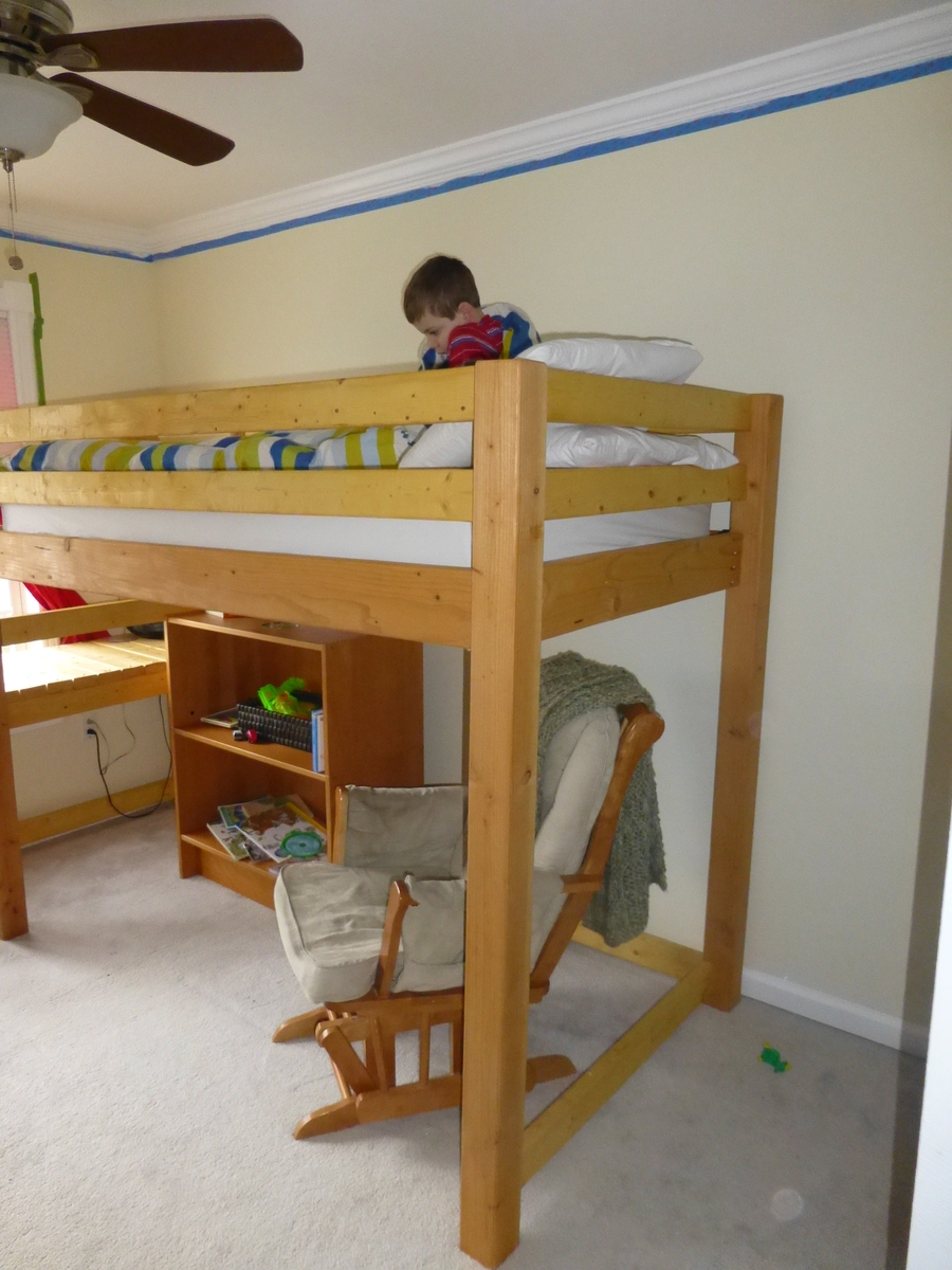 how to build a ladder for a loft bed