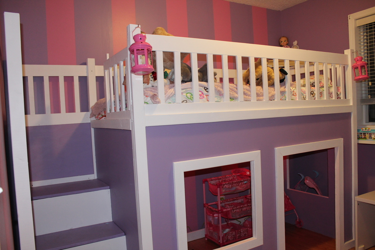 Building A Loft Bed Ana White Playhouse Loft Bed Diy Projects