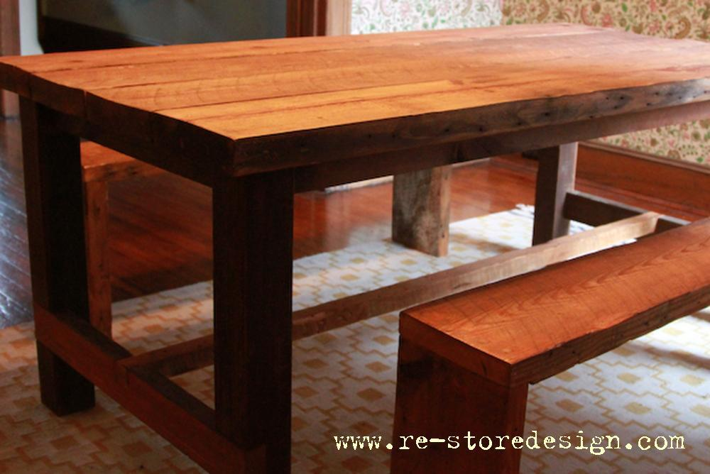 Reclaimed Wood Farm Table