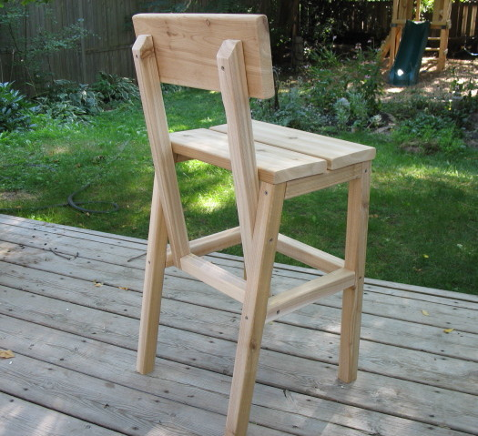 Ana White Outdoor Cedar Higher Chair Diy Projects