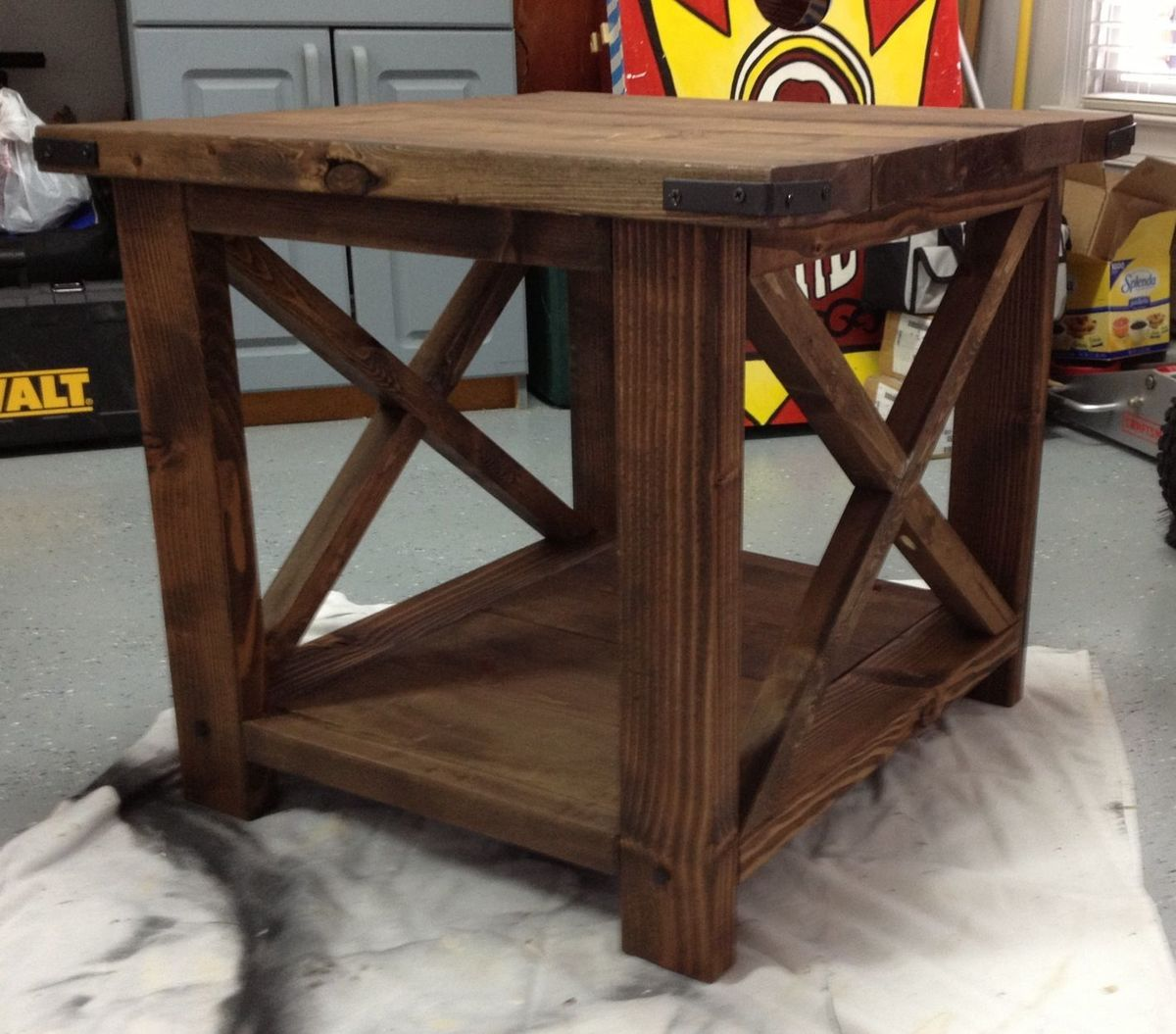 Ana White Our Rustic End Table Diy Projects