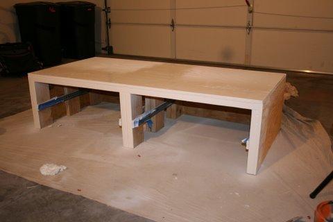 Farmhouse Wooden End Table