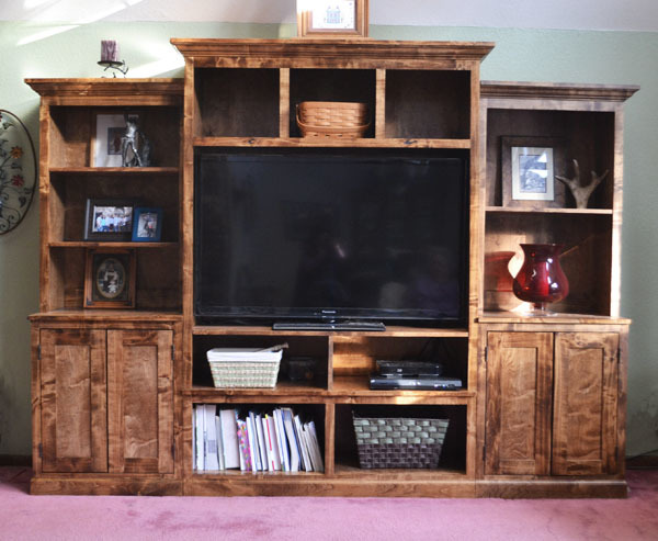 Ana white smith media wall side hutch diy projects - Media consoles for small spaces plan ...