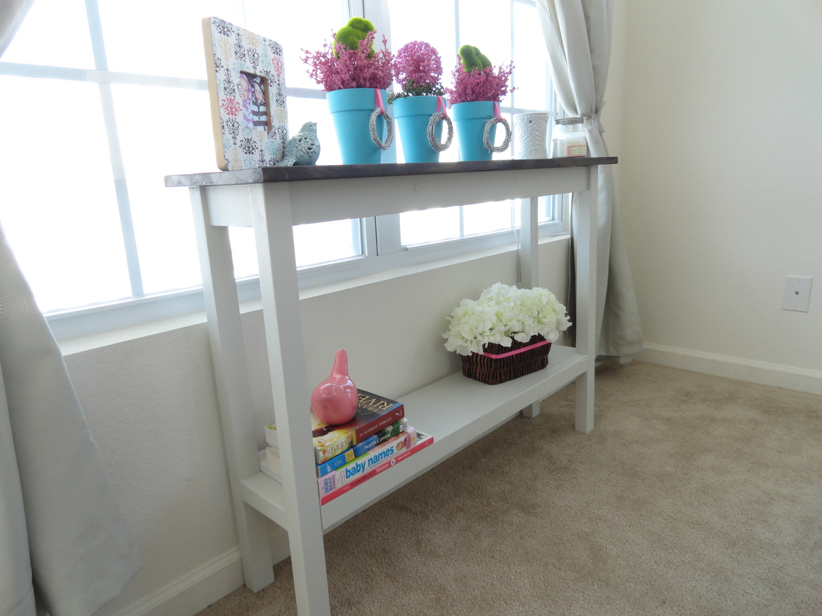 Small Narrow Console Table ana white | narrow console table - diy projects