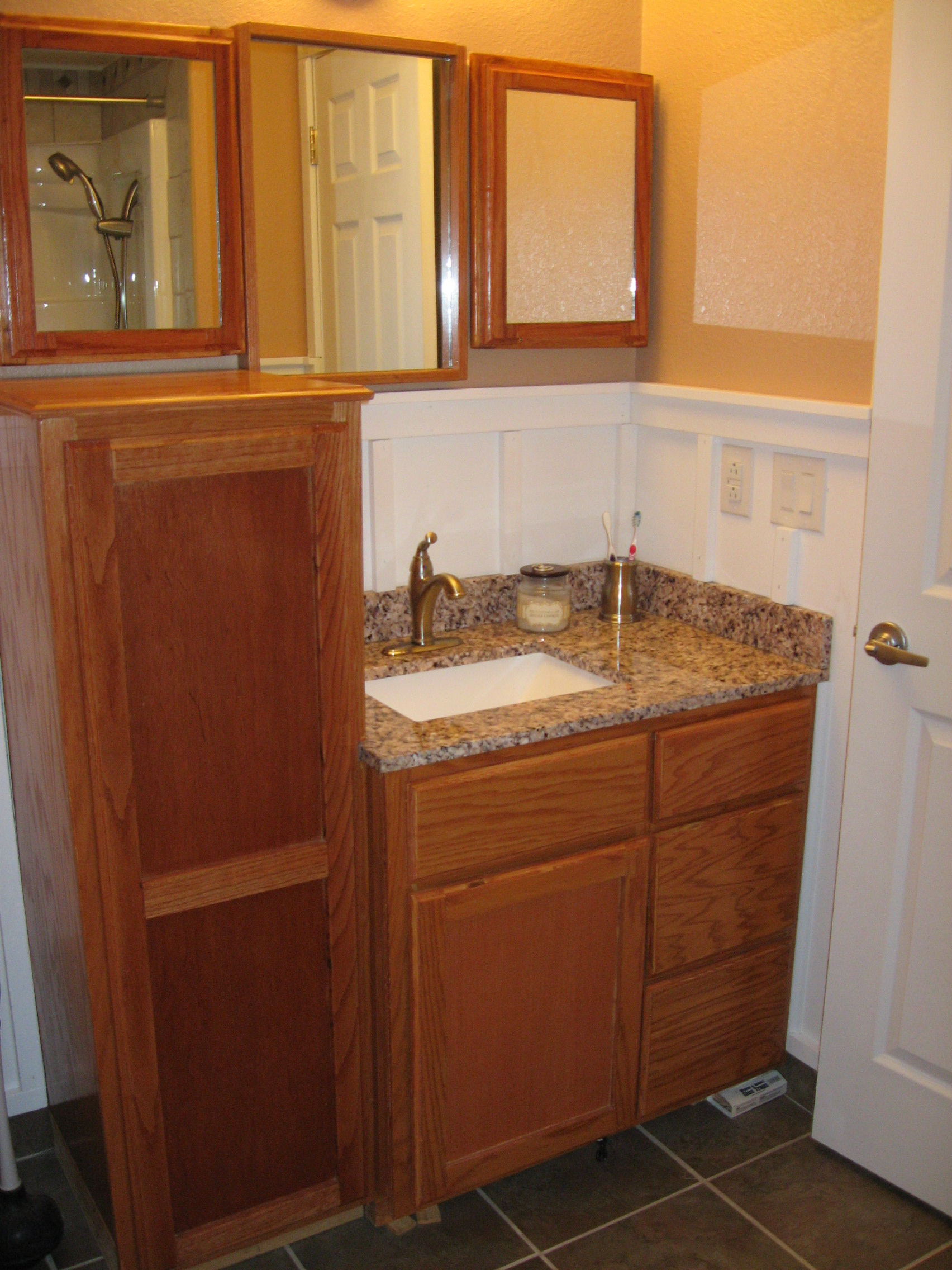 ana white guest bathroom remodel with board and battten