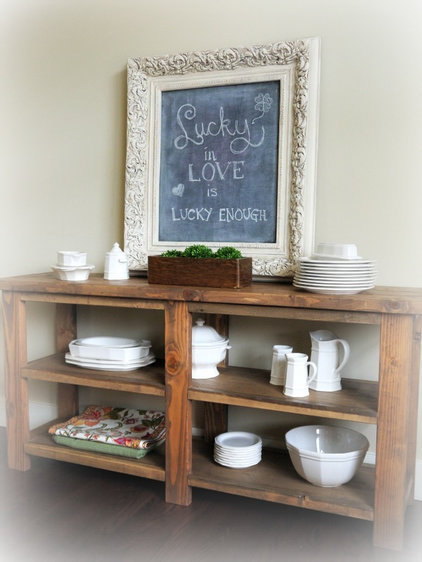 Do It Yourself Home Design: Rustic Buffet Table - DIY Projects