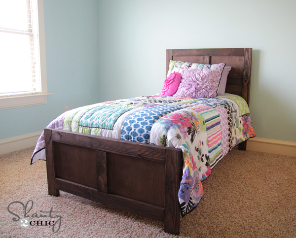 Free Plans To Build A Wood Bed Inspired By Pottery Barn Kids Emmett For Just 70 Step From Ana White
