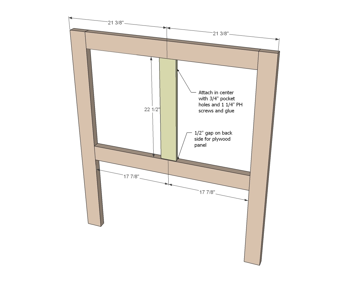 Beautiful For the headboard build the outside frame using pocket hole setting and pocket hole screws screws are remended per joint