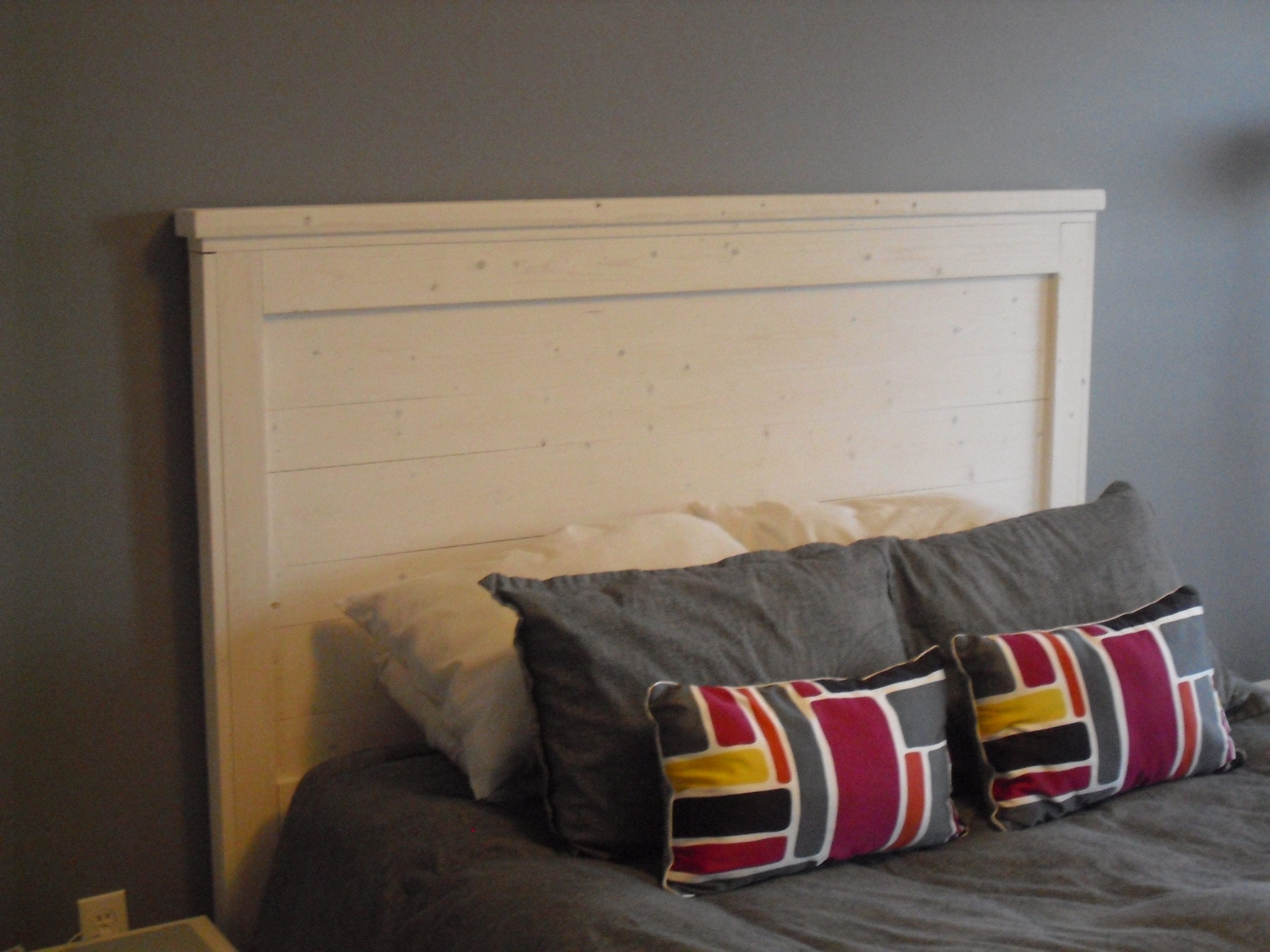 Ana White Whitewashed Queen Headboard Diy Projects