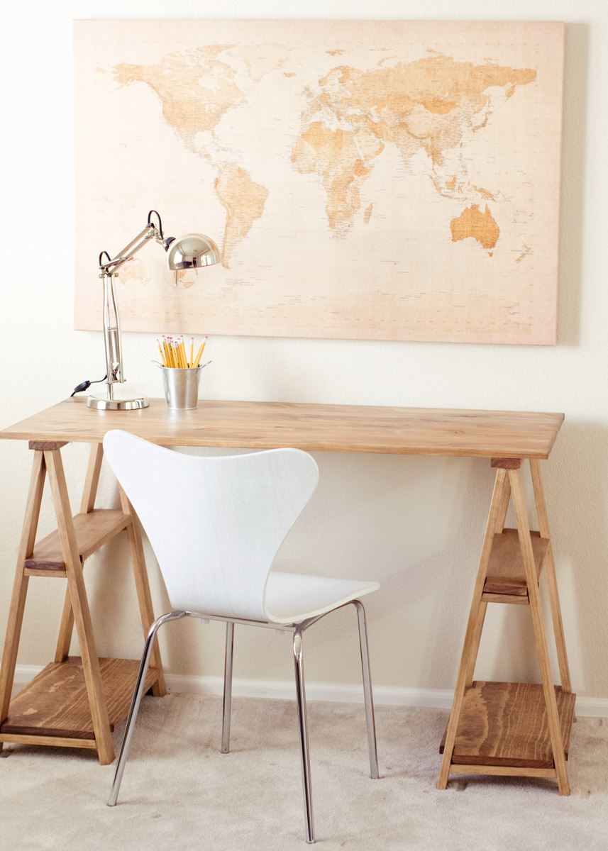 ana white sawhorse desk diy projects