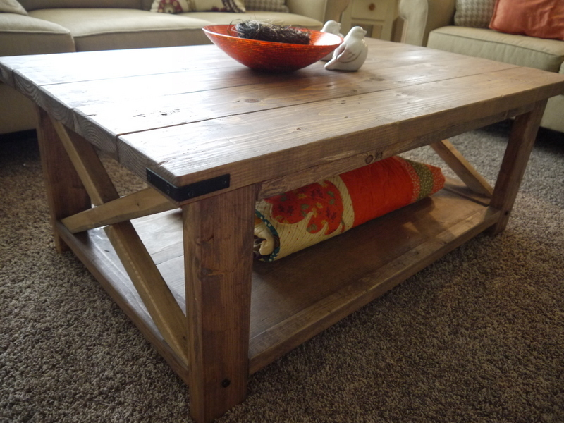 Ana White Red Hen Home 39 S Rustic X Coffee Table Diy Projects
