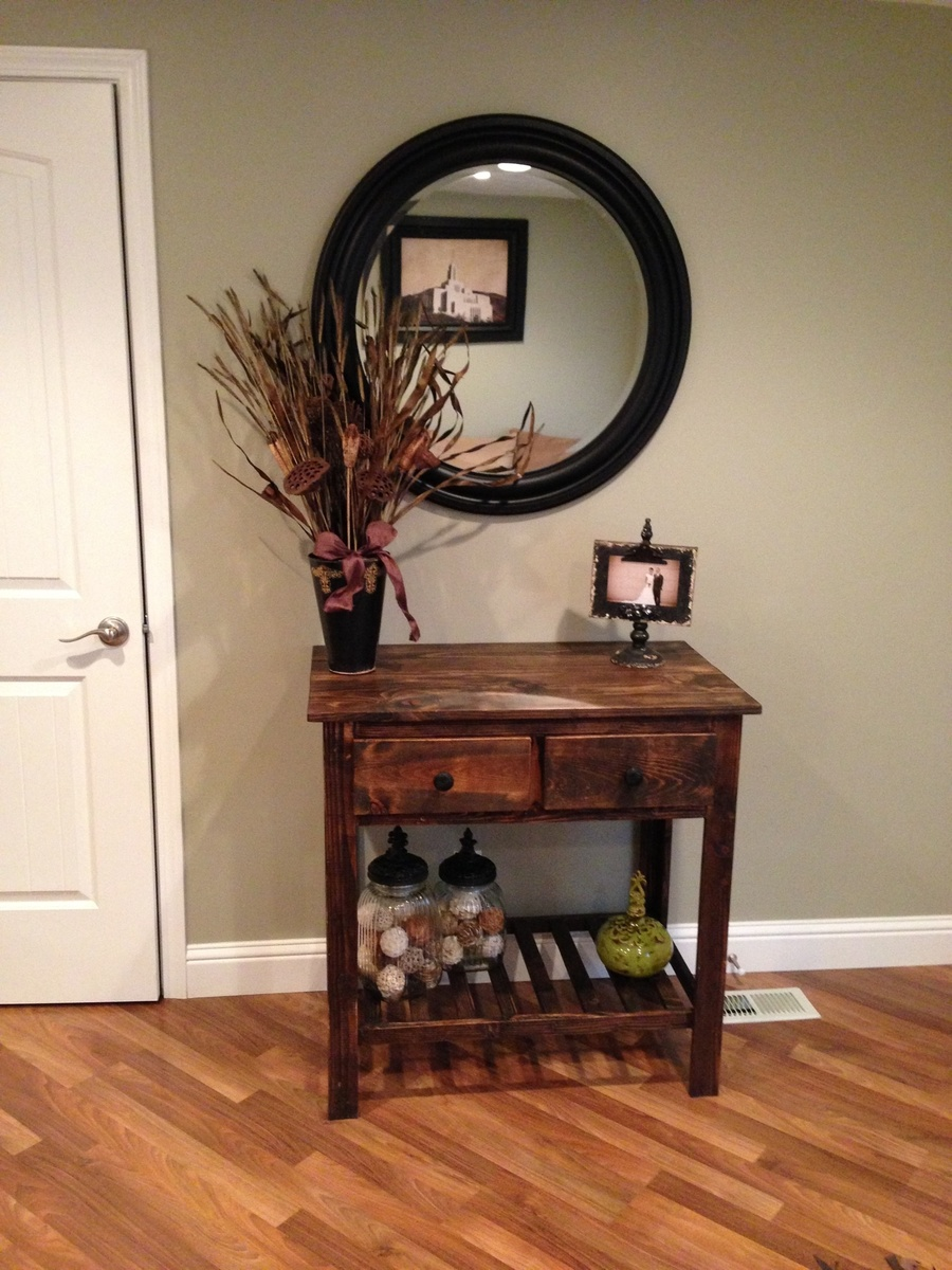 ana white entry table diy projects. Black Bedroom Furniture Sets. Home Design Ideas