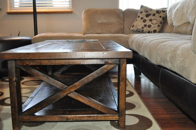 rustic farmhouse coffee table 2