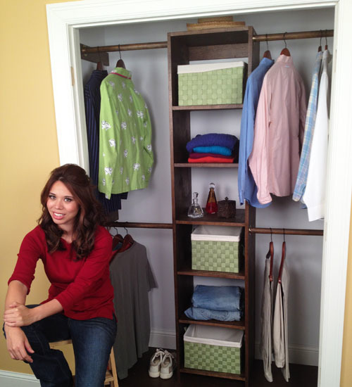 Free Plans To DIY A Closet Organizer System From One Sheet Of Plywood.  Video Tutorial And Step By Step Instructions From Ana White.com