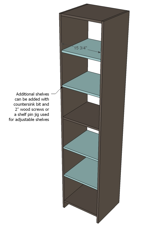 Ana white closet organizer from one sheet of plywood diy projects solutioingenieria Gallery