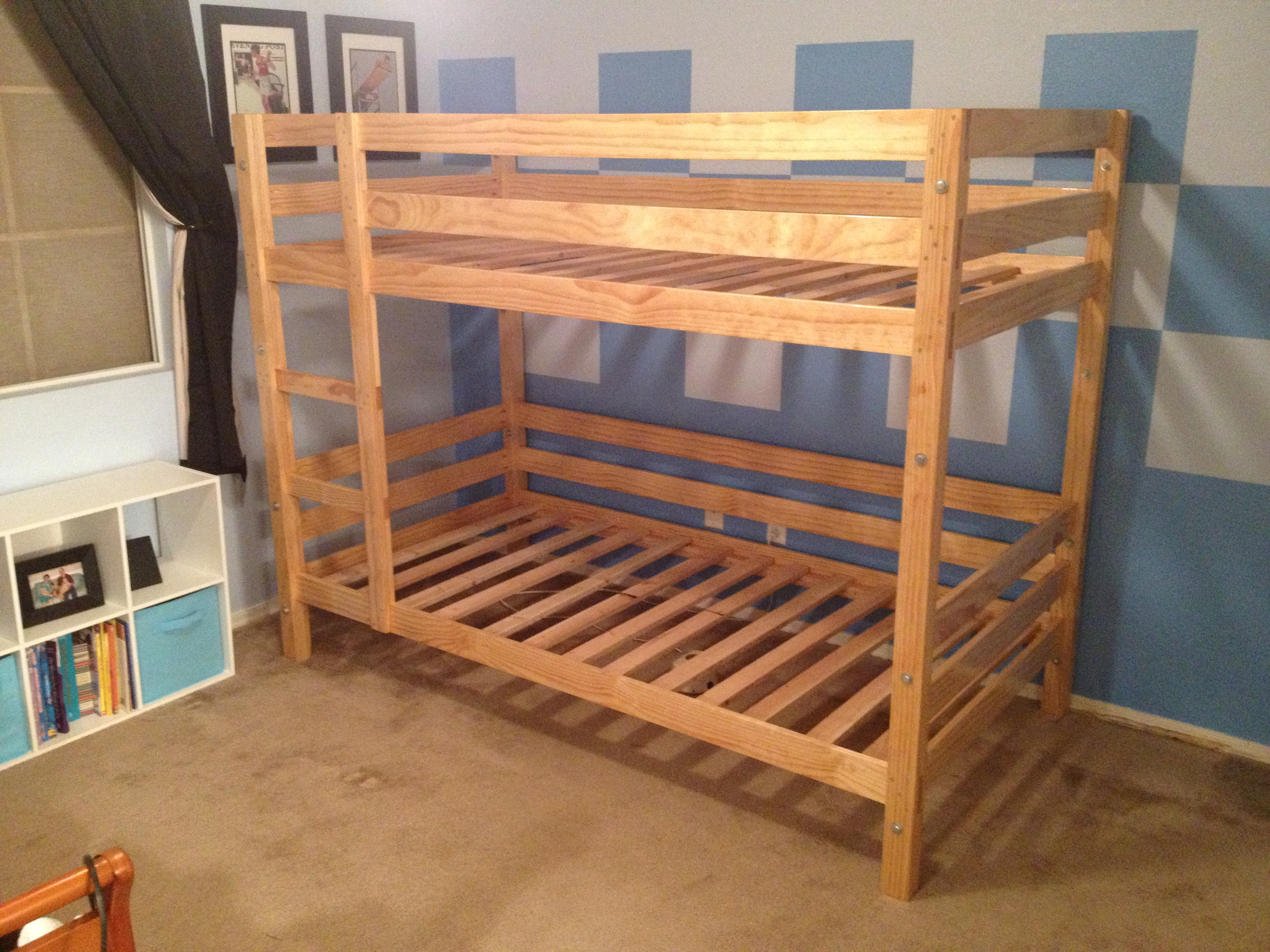 Ana white classic bunk beds diy projects for Castle bed plans pdf