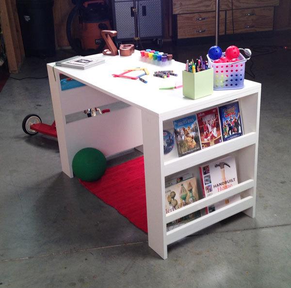 Kids Storage Leg Desk Ana White